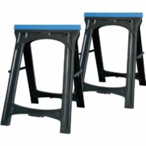 Silverline 973048 Pair of Plastic Folding Saw Horse Stands light duty