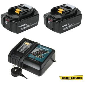 Makita BL185052PK Li-ion Batteries 2 x 18volt 5amp & Charger