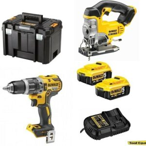 DeWALT DCD796 Hammer Drill & DCS331 Jigsaw 2 x5amp TSTAK DCD796DCS3312PK