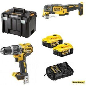 DeWALT DCD796 Hammer Drill & DCS355 Multi-Tool 2 x5amp TSTAK DCD796DCS3552pk
