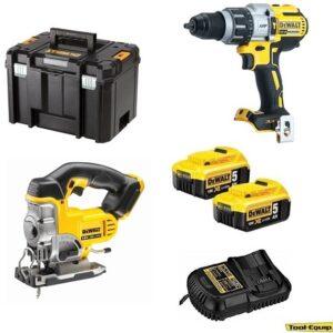 DeWALT DCD996 Heavy Duty Drill Driver & DCS331 Jigsaw 2x5amp DCD996DCS3312PK
