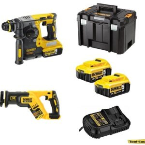 DeWALT DCH273P2DCS3672PK Brushless SDS Drill, Sabre Saw, 18v 2x5amp