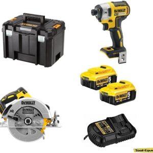 DeWALT DCS570DCF8772pk Power Tool Kit Circular Saw & Impact Driver 2x5amp