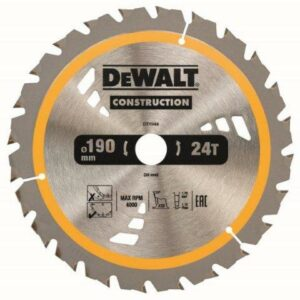 DeWALT DT1944-QZ 190x30mm 24teeth TCT Saw Blade