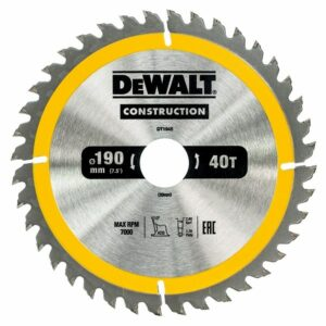 DeWALT DT1945-QZ TCT Saw Blade 190x30mm 40teeth