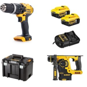 DeWALT DCK206P2-GB SDS Drill and Driver twin pack (2 x 5amp) DCH253 DCD785