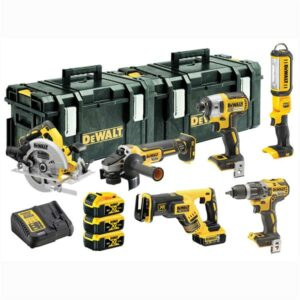 DeWALT DCK623P3-GB Brushless Power Tool Kit 6pc 18V 3 x 5amp batteries