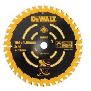 DeWALT DT10303-QZ 184mm x 16mm bore x 40 Tooth Extreme Slow Fine Cutting Circular Saw