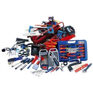 Draper 89756 Electrician Tool Kit in Metal Toolbox