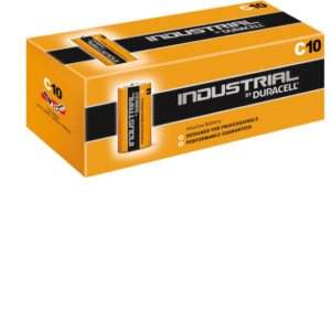 Duracell DURINDC Box (10) C Cell Industrial Battery Alkaline