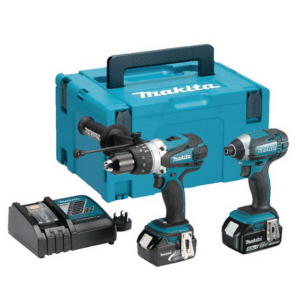 Makita DLX2145TJ Heavy Duty Drill & Impact Driver Set 18volt with 2x5amp batteries