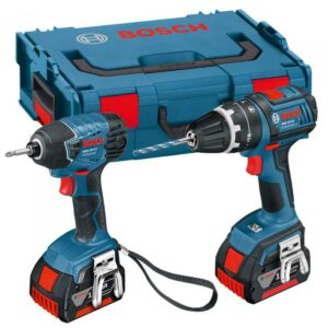Bosch GSB18VLITWIN 18volt Twin Pack Drill and Impact with 2x4amp battery