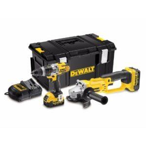 DeWALT DCK293M2-GB Heavy Duty Drill & Angle Grinder 2x4amp batteries