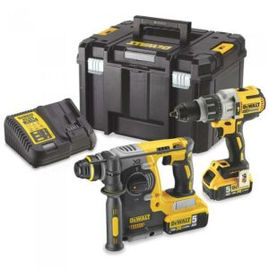 DeWALT DCK229P2T-GB Brushless SDS & Heavy Duty Drill 18V Twin pack