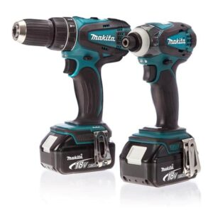 Makita DLX2012 18volt Twin pack Drill & Impact Driver 4amp in Case