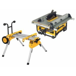 DeWALT DW745-LX Table Bench Saw 110volt for Wood plus rolling stand