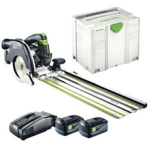 Festool 201373 (HKC 55 Li 5.2 EB-Set) Circular Saw Spring Loaded Rail 18volt plus accessories