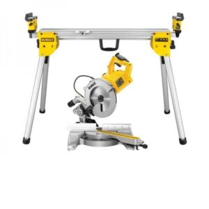 DeWALT DWS778-LX 250mm Sliding Mitre Saw with DE7033 Folding Legstand