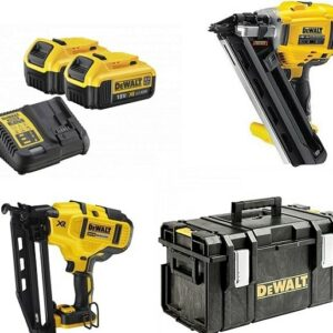 DeWALT DCK264M2-GB Twin Nail Gun Pack 1st & 2nd Fix Nailers 18V 2x4amp batteries