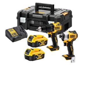 DeWALT DCK2062M2T-GB 18V Compact Drill & Impact Kit 2 x 4amp Batteries