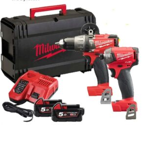Milwaukee M18FPP2X-502X Heavy Duty Drill Impact Set Fuel 18volt 2x5amp