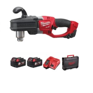 Milwaukee M18CRAD-502X Hole Hawg Angle Drill 18v with 2x5amp Batteries