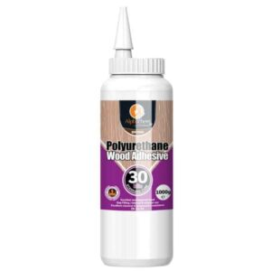Alphachem X2PU30MIN1 Wood Glue Polyurethane Bottle 30minute D4 1000gr is a solvent free, polyurethane wood bonding adhesive.