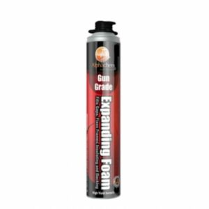 Alphachem X5FGG7 750ml Gun Usage Expanding Foam expands up to 1.5 times. Features easy application, adhesion, filling and acoustical insulation value