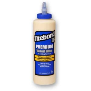 Titebond II 600208 Wood Glue Blue Bottle Interior Exterior 16oz  is a one-part wood glue. Wood adhesive is water-resistant.