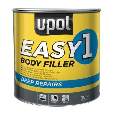 Upol UPOEASY Metal Body Filler Smooth Finish Polyester 3l