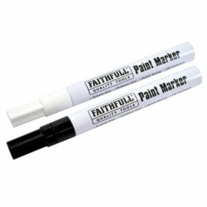 Faithful FAIPMBLKWHI Paint Markers Black and White Pack (2)
