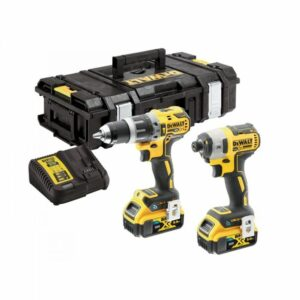 DeWALT DCK2500P2B-GB 18volt Twin Bluetooth Kit Drill Impact