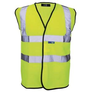 Work-it Yellow Hi-Vis Vests with 2 Bands 2405