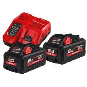 MilwaukeeM18HNRG-802 2 x 18volt 8amp Batteries & Charger