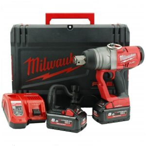 Milwaukee M18ONEFHIWF1-802X 18volt 1inch Drive Impact Wrench plus 2x8amp batteries