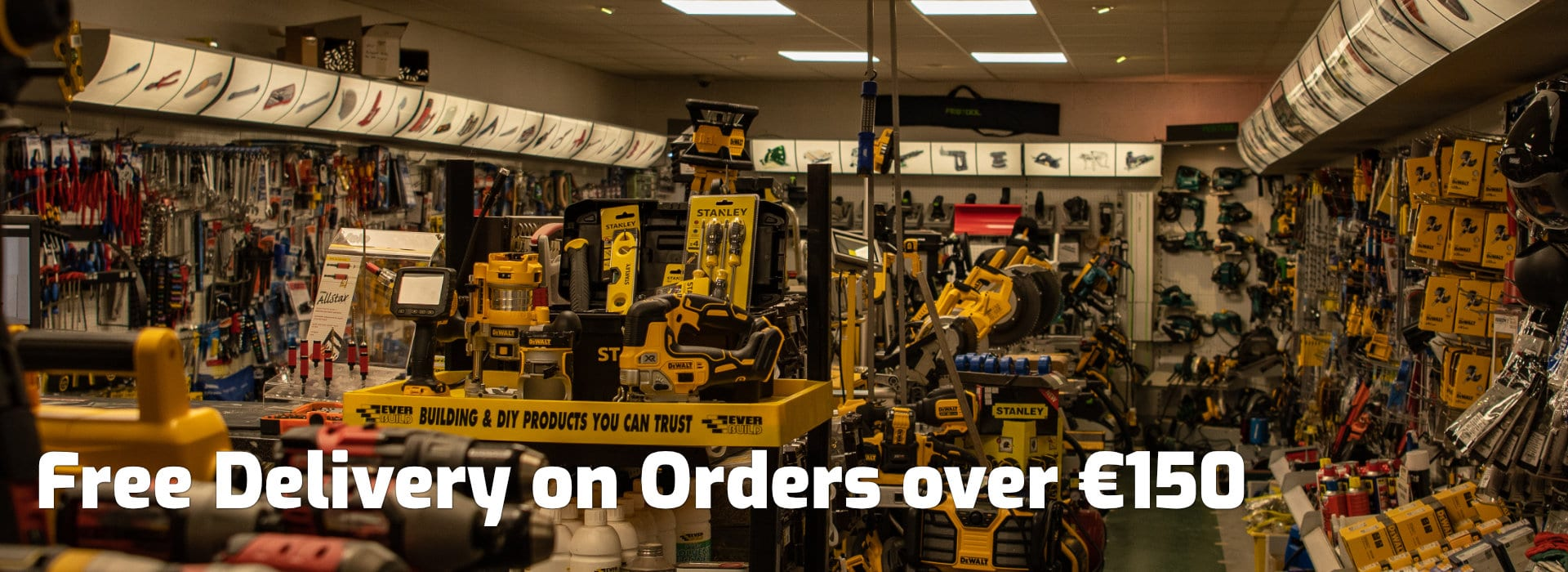 free delivery power tools ireland over €150