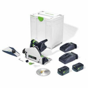 Festool 576716 Plunge Saw 18V TSC 55 Li 5,2 KEBI-Plus Kit Batteries and Charger in Systainer - Tool Equip