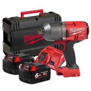Milwaukee M18FHIWF12-602X Impact Wrench 18V 1/2dr 2x6amp Charger
