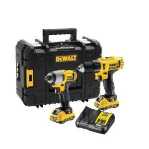 DeWALT DCK218D2T-GB DCD716 Hammer Drill and DCF815 Impact Driver Power Tool Kit
