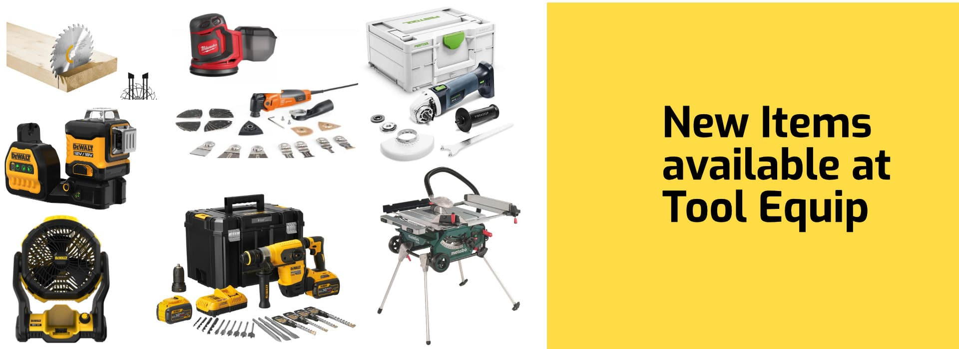 New tools available at tool Equip